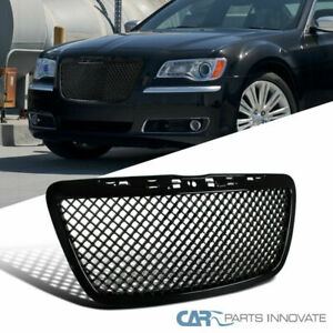 11 14 Chrysler 300 300c Front Insert Glossy Black Abs Mesh Hood Grill Grille