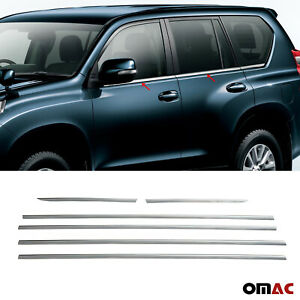 Fits Toyota Land Cruiser Prado 2010 2020 Chrome Window Frame Trim S steel 6 Pcs