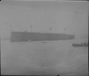 Victorian Photo Of A Ship Launch By Famous Photographer W M Crockett