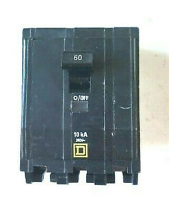 Square D Circuit Breaker 60a 240 Vac Qob360 M mag Bolt On Type Hacr New