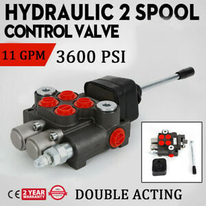 6 Spool Hydraulic Directional Control Valve Double Acting Cylinder Spool 11gpm