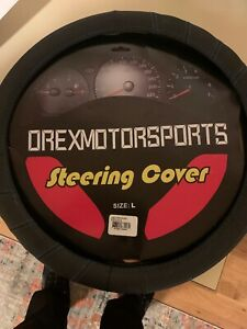 Orexmotorsports Steering Wheel Cover 15 1 2 Leather Blue Stitch New