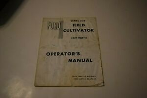 Ford Series 208 Field Cultivator 2 bar Mounted Operator s Manual