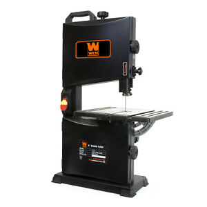 Power Band Saw Table Top Benchtop Portable 2 8 Amp 9 Inch Woodworking Wen Black
