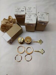 Qty 7 Schlage 20 001 C 1 1 4 Inch 114dim Mortise Cylinders c Key 5 pin 612 Ka