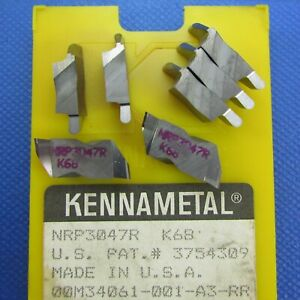 7 Pcs Kennametal Nrp 3047r Carbide Grooving Inserts Machinist