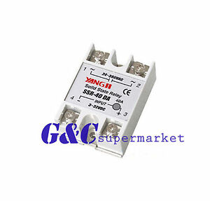 10pcs Ssr 25da 24v 380v 25a 250v Solid State Relay Module 3 32v Dc To Ac New