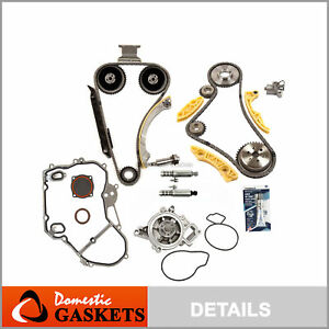 Timing Chain Kit Vct Selenoid Actuator Gear Water Pump Fits Gm Ecotec 2 2l 2 4l