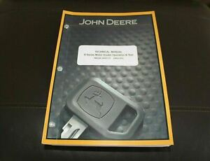 John Deere 670d 672d 770d 772d Grader Service Operation Test Manual Tm2246