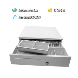 5 Bill 6 Coin Cash Register Drawer Box Works Compatible Tray Pos Printers N5w0