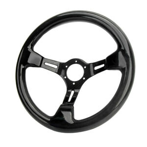 350mm 14 Carbon Fiber Racing Steering Wheel Gloss Rectangular Hole 6 Bolts