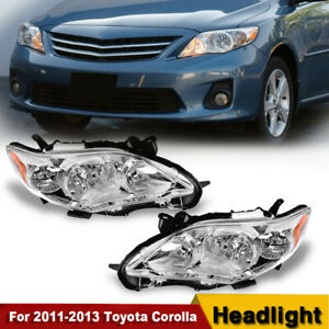Headlights Headlamps Replacement Left Right For 2011 2013 Toyota Corolla
