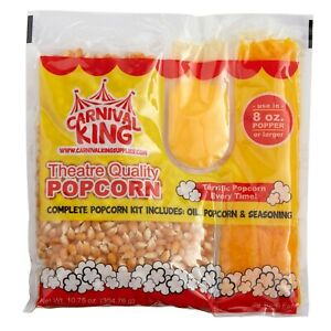 Carnival King All in one Popcorn Kit For 8 Oz To 10 Oz Poppers 24 case