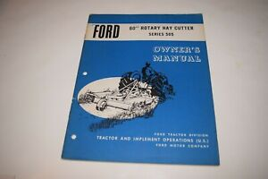 Ford 60 Rotary Hay Cutter Series 505 Owner s Manual