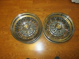 Four Tru Spoke Wire Wheels Rims 15x7 Chevy Camaro Corvette Chevelle Nova