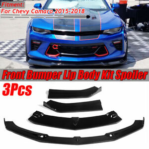 Front Bumper Lip Splitters Spoiler For 2015 2018 Chevrolet Camaro Ss V8 Coupe