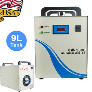 Industrial Water Chiller Cw 3000 9l Tank For Cnc Laser Engraver Engraving