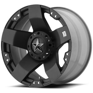 4 Xd775 Rockstar 17x8 5x4 5 5x4 75 10mm Matte Black Wheels Rims 17 Inch