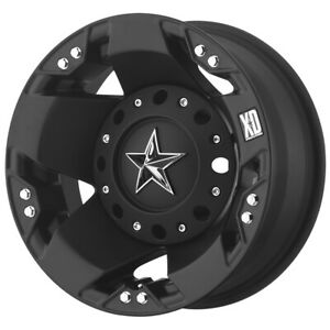 Xd775 Rockstar Dually Rear 17x6 8x6 5 134mm Matte Black Wheel Rim 17 Inch