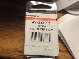 Devilbiss Plus Av 213 12 Fluid Tip 1 2 Made In Usa Upc 658701017645