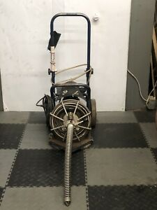 Used Electric Eel Z5 1 2 X 50 Autofeed Sewer Snake Pipe Cleaner Floor Drain