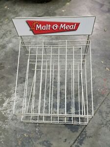 Malt o meal Vintage Display Stand Tabletop Rack Snack Retail Shelf Metal