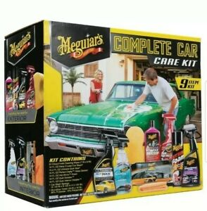 9 Piece Meguiar s Complete Detailing Car Care Cleaning Kit Shine Wash Wax Glass