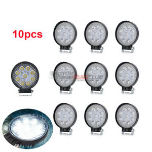 10x 4inch 27w Round Led Work Lights Pods Spot Beam Off road Fog Driving Light Us