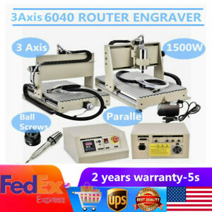 1 5kw Vfd 3 Axis 6040 Router Engraver Metal Milling Carving Woodworking Machine