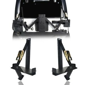 Pair Spare Tire Carrier Jerry Can Mounting Bracket For Jeep Wrangler Jk 07 18
