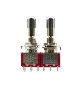 2pcs T8012 lkbq Toggle Switch With Lock 3positions On off on Dpdt