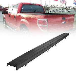For 09 14 Ford F 150 Trunk Top Protector Cover Rear Tailgate Moulding Cap Black