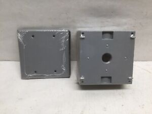 Bell 5333 0 Weatherproof Electrical Box 2 gang 3 inlet W 5175 Cover Aluminum