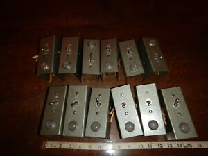Vintage Toggle Switch Panel Light Steel Case Outlet Combo Lot Of 12 Ratrod