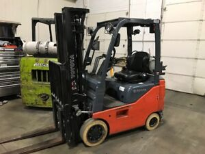 2015 Toyota 8fgcu18 3500 Lb Capacity Lp Gas Forklift Only 5173 Hours 3 Stage
