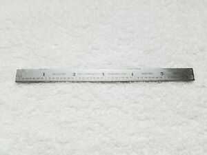 Vintage Ls Starrett Co No C 305 R 6 Tempered Steel Rule Thin Small Made In Usa