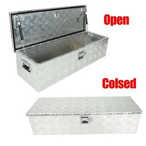 39 X13 X10 Chrome Aluminum Pickup Truck Trunk Bed Tool Box Trailer Storage Lock