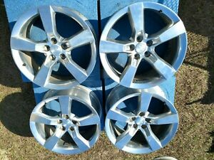 2010 2014 Chevy Camaro Ss Set Of 4 Staggered Wheels Rims Oem 20x8 20x9