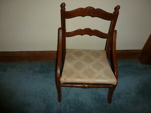Antique Victorian Child S Folding Carpet Tapestry Chair