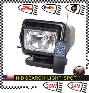 Spot H3 35w Hid Xenon Search Work Light Remote Magnetic Wireless Boat Truck 24v