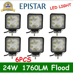 6x24w Square Led Flood Cube Work Light Pods Truck Motor Offroad Suv Dirving Lamp