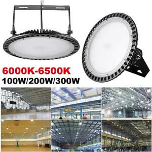 Led High Bay Light 100w 200w 300watt Daylight Super Bright Warehouse Floodlight