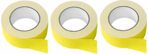 3 Rolls Rockville Pro Audio stage Wire Rock Gaff Yellow Gaffers Tape 2 x100 Ft