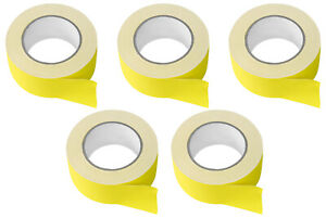 5 Rolls Rockville Pro Audio stage Wire Rock Gaff Yellow Gaffers Tape 2 x100 Ft
