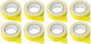 8 Rolls Rockville Pro Audio stage Wire Rock Gaff Yellow Gaffers Tape 2 x100 Ft