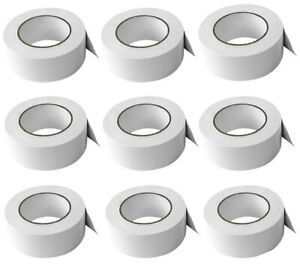 9 Rolls Rockville Pro Audio stage Wire Rock Gaff White Gaffers Tape 2 x100 Ft