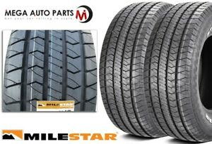 2 Milestar Streetsteel P215 60r15 93t White Letters All Season Muscle Car Tires