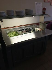 Galley Refrigerated Buffet Table Perfect For Salad Bars Excellent Condition
