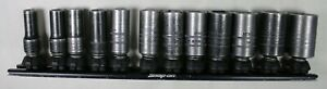 Snap On 212imfmsya 3 8 Metric 6 Pt Semi Deep Mid Impact Socket Set 8mm 19mm