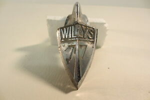 Vintage Original 1935 1936 Willys 77 Hood Ornament Mascot Grille Emblem Badge